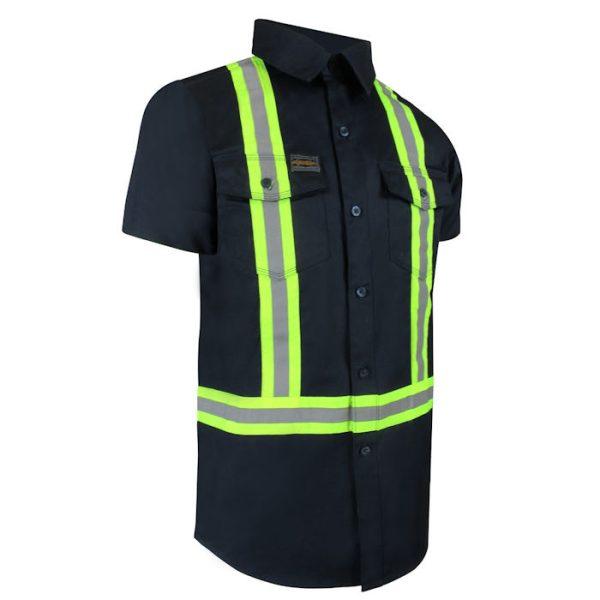 Chemise à manches courtes avec bandes réfléchissantes 70-211R