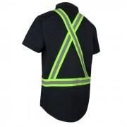 Chemise à manches courtes avec bandes réfléchissantes 70-211R_dos